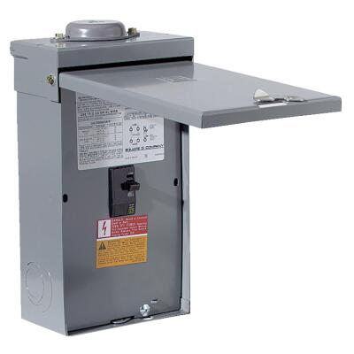 Square D QO 100A Double-Pole Standard Trip Outdoor Enclosed Main Breaker